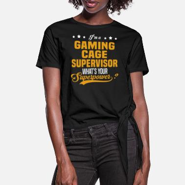 Gaming Cage Supervisor Gaming Cage Supervisor - Women's Knotted T-Shirt