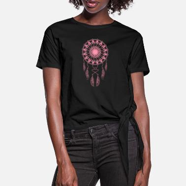 Sacred Geometry Dreamcatcher Dreamcatcher Lucky Charm Gift - Women's Knotted T-Shirt