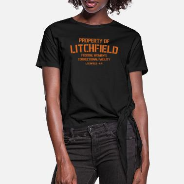 Orange Litchfield Prison - Women's Knotted T-Shirt
