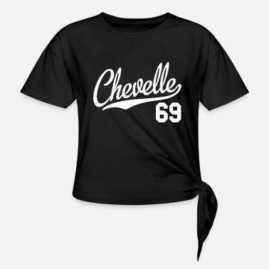 Chevelle Chevelle 69 Script Tail Shirt 1969 Classic Muscl - Women's Knotted T-Shirt