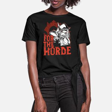 Horde for the horde viking t shirts - Women's Knotted T-Shirt