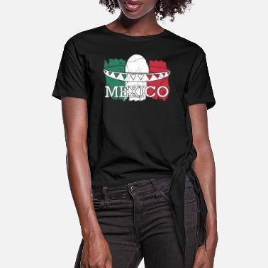 Central Mexico Mexico Mexico City Central America Gift - Women's Knotted T-Shirt