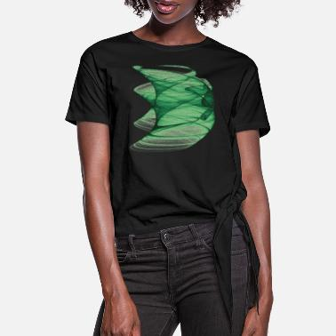 Color fancy pastel-colored green windpants 12449 algae - Women's Knotted T-Shirt