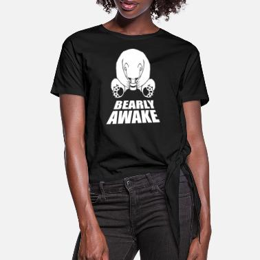 Awake Bear Sleeping Bears - Women's Knotted T-Shirt