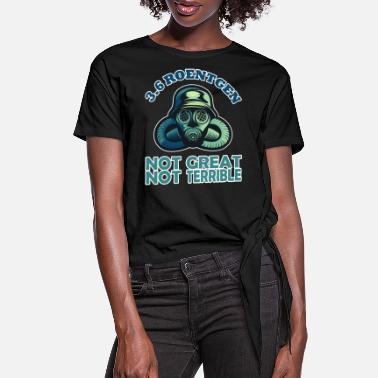 Nuclear Power Plant 3 6 ROENTGEN GAS MASK Series Fans - Women's Knotted T-Shirt