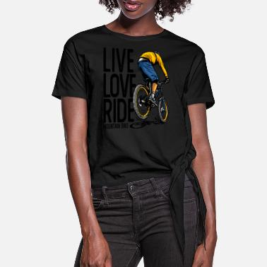 Tours Bicycle Biker Retro Bike - Women's Knotted T-Shirt