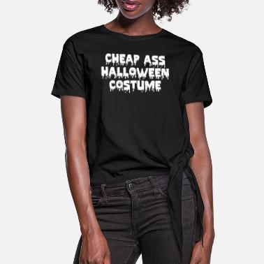 Womens Grey T Shirt Halloween Horror Scary This Is My Cat Costume Funny HAL9