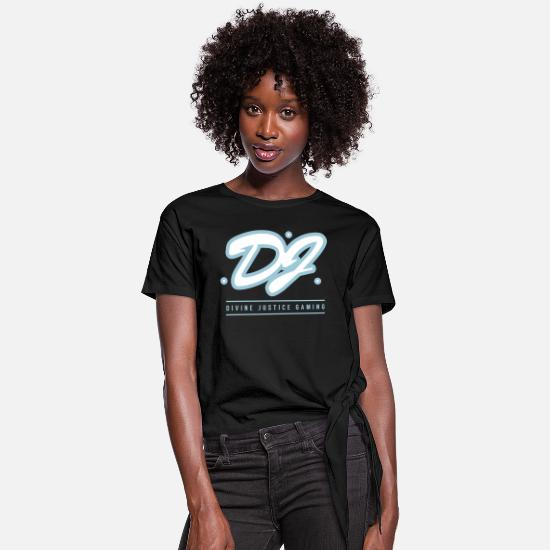 Dj T-Shirts - DJ - Women's Knotted T-Shirt black