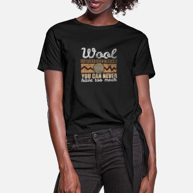 Wool Wool wool ice cream - Women's Knotted T-Shirt