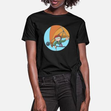 Leap Hang Glider self portrait - Women's Knotted T-Shirt
