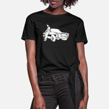 Siluet Paul Walker - Women's Knotted T-Shirt