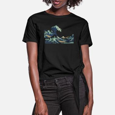 Wave Japan Hokusai Great Wave - Women's Knotted T-Shirt