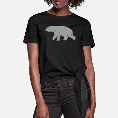 Polar Polar Bear - Women's Knotted T-Shirt