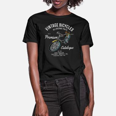Bicycle Tour Vintage Bicycle Cycling Tour Gift - Women's Knotted T-Shirt