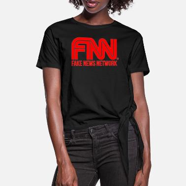 Network Fake News Network - Women's Knotted T-Shirt