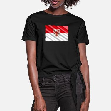 Brandenburg Brandenburg Flag - Women's Knotted T-Shirt