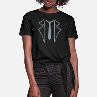 Suit Suit - Women's Knotted T-Shirt