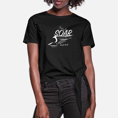 Isaiah soar (all white) - Women's Knotted T-Shirt