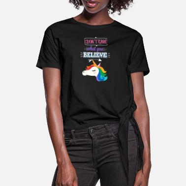 Expression Unicorn self confidence priss confident ego gift - Women's Knotted T-Shirt