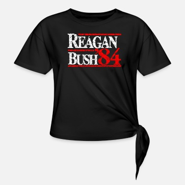 Reagan Bush Reagan Bush 84 - Women's Knotted T-Shirt