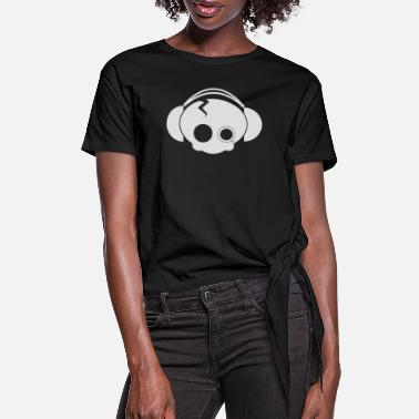 Cute Skull cute skull - Women's Knotted T-Shirt