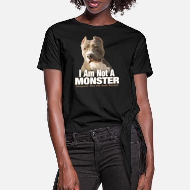 Nose Pit Bull Terrier Respect - Women's Knotted T-Shirt