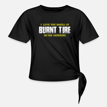 Burnout Burnout - Women's Knotted T-Shirt