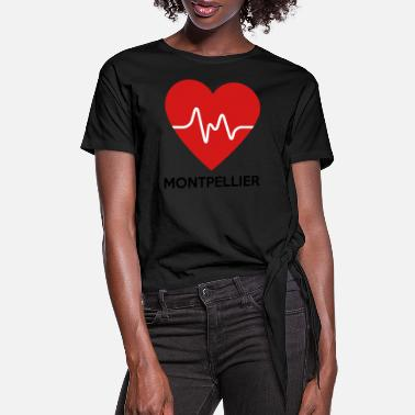 Montpellier Heart Montpellier - Women's Knotted T-Shirt
