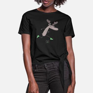 Renner Renner moose - Women's Knotted T-Shirt