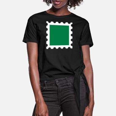 Stamp Stamp - Women's Knotted T-Shirt