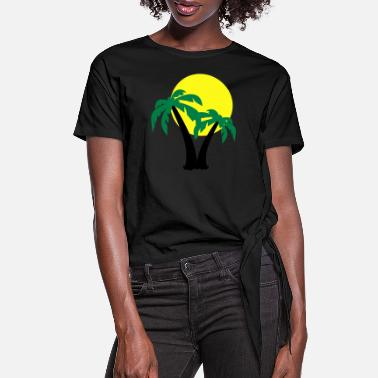 Tree Palm Trees - Women's Knotted T-Shirt