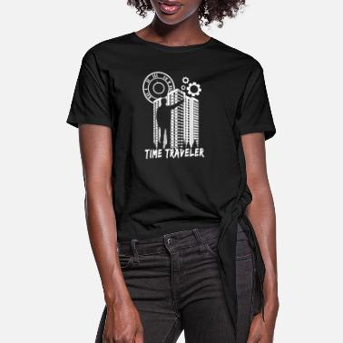 Time Travel Time Traveler Travel - Women's Knotted T-Shirt