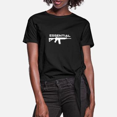 Production Year 2A 2Nd Amendment Essential Ar15 Pro Gun Gift Tshir - Women's Knotted T-Shirt