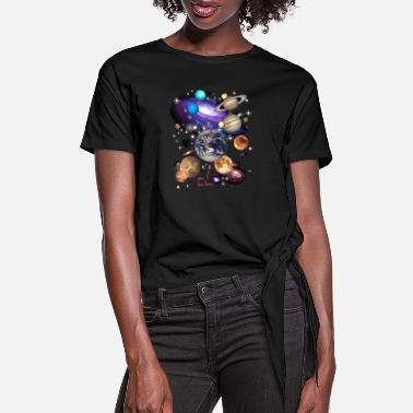 Solar System Planets Space - Women's Knotted T-Shirt