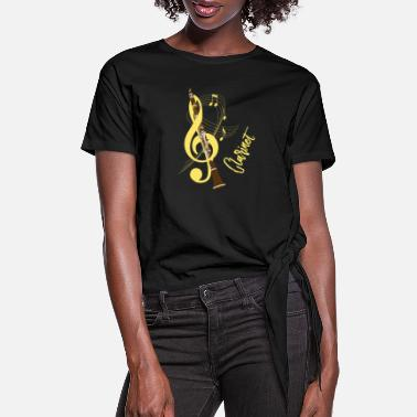 Clarinet Clarinet Musical Instrument Music Lovers S - Women's Knotted T-Shirt