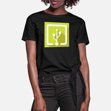 Usb usb - Women's Knotted T-Shirt