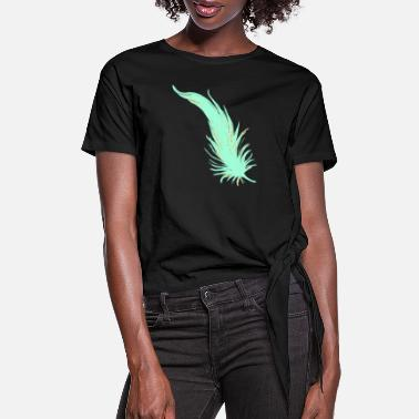 Feathered Animal Feather - Women's Knotted T-Shirt