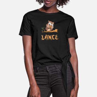 Lance Lance Owl - Women's Knotted T-Shirt