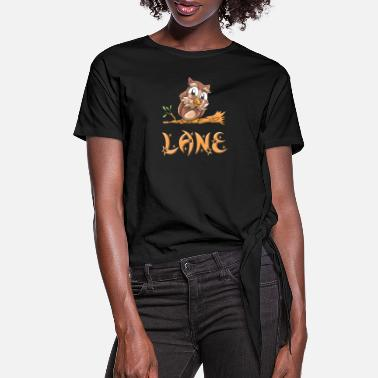 Lanes Lane Owl - Women's Knotted T-Shirt