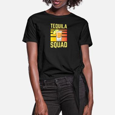 Beachparty Tequila Squad - Beachparty - Women's Knotted T-Shirt