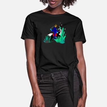 Illustration illustration - Women's Knotted T-Shirt