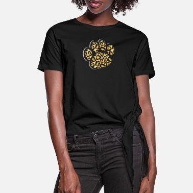Paw Cheetah Paw - Women's Knotted T-Shirt