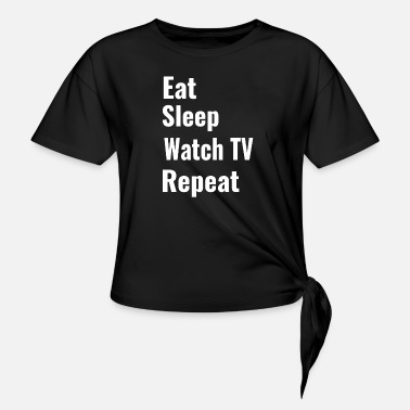 Watch Tv Watch TV - Women's Knotted T-Shirt