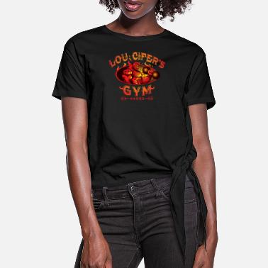Lou Cifer's Gym - Women's Knotted T-Shirt