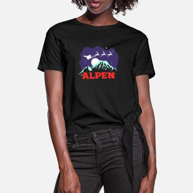 Alps Alps - Women's Knotted T-Shirt