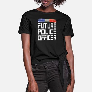 Police Station Police Officer Police Officer - Women's Knotted T-Shirt
