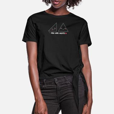 Triangle You are acute funny triangles geometry math funny - Women's Knotted T-Shirt