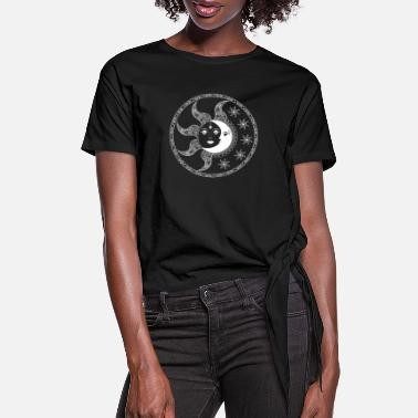 Moon sun moon star - Women's Knotted T-Shirt