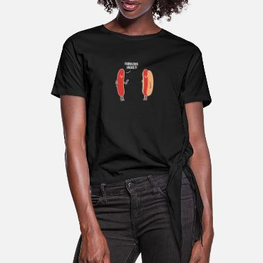 Food Hotdog Jacket Hotdog Lover Gift - Women's Knotted T-Shirt