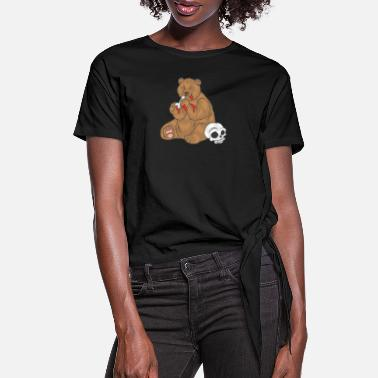 Cannibalism Bear cannibal - Women's Knotted T-Shirt